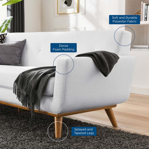 Modway - Engage Upholstered Fabric Sofa in White