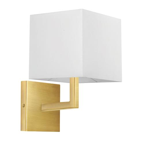1lt Wall Sconce, Agb W/ Wh Shade