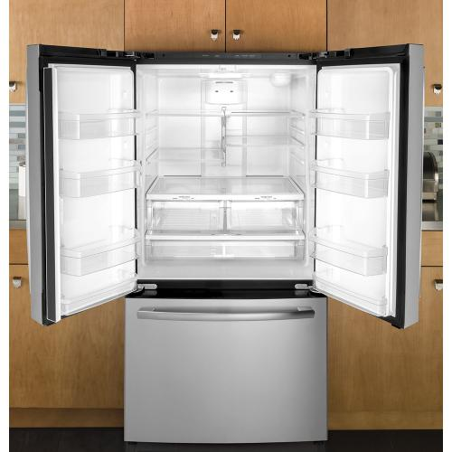 GE 27.7 Cu. Ft, French Door Refrigerator Stainless Steel- GNE27JSMSS