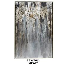 """40"""" X 60"""" abstract with silver PS outer frame 1PK/5.27'"""