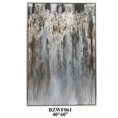 "40"" X 60"" abstract with silver PS outer frame 1PK/5.27'"