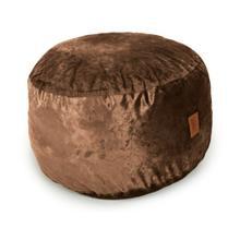 See Details - Footstool - Plush Fur - Brown