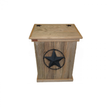 Product Image - Trash Can - Single - Barbed Wire Star - Black