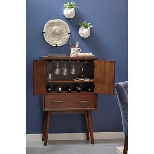 Draper Mid-Century Modern Wine Cabinet