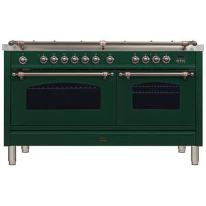 60 Inch Emerald Green Dual Fuel Natural Gas Freestanding Range
