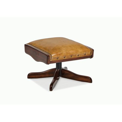 Boomerang Ottoman with wooden overlays