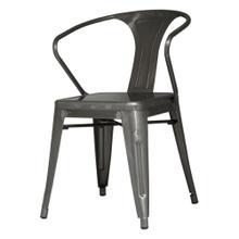Metropolis Metal Arm Chair, Gunmetal