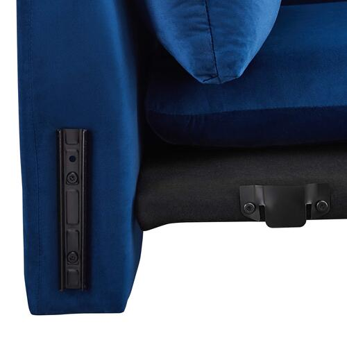 Modway - Indicate Performance Velvet Armchair in Navy