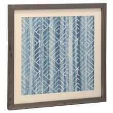 See Details - Bryan Keith Contemporary Blue and White Print Framed Under Glass