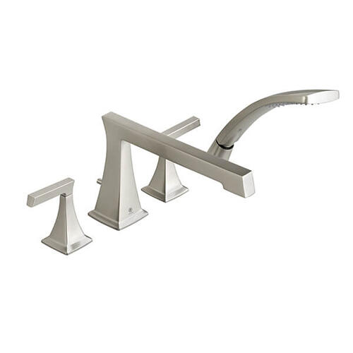 Keefe Water Saving Deck Mount Bathtub Faucet with Hand Shower - Brushed Nickel