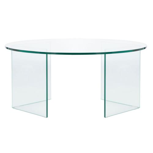 Safavieh - Bexon Tempered Glass Coffee Table - Clear