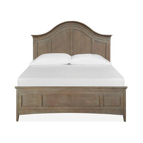 Magnussen Home - Complete Queen Arched Bed with Regular Rails
