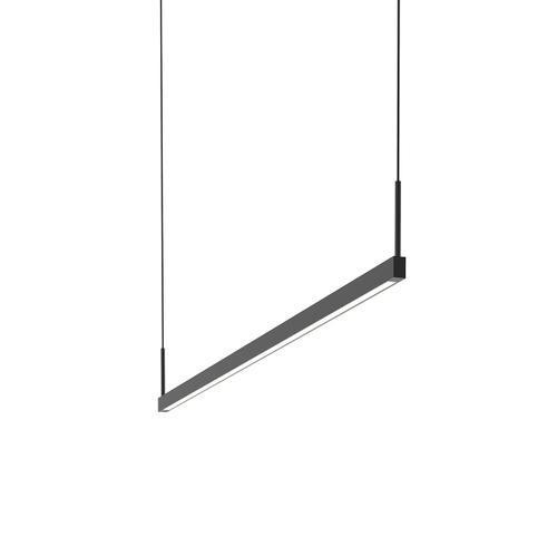 Sonneman - A Way of Light - Thin-Line LED Pendant [Size=4' One-Sided, Color/Finish=Satin Black]
