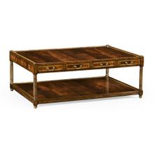 Rectangular Regency style mahogany coffee table