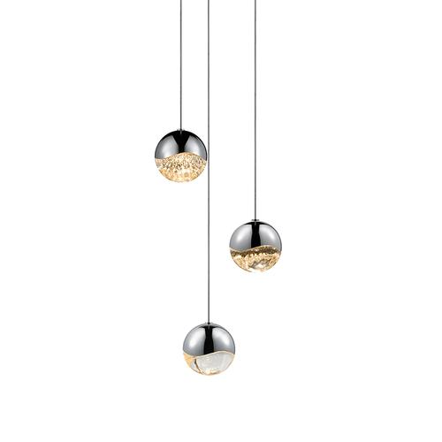 Grapes® 3-Light Round Medium LED Pendant