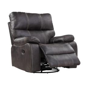 Jessie James Swivel Glider Recliner Gray