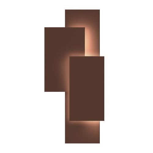 Sonneman - A Way of Light - Offset Panels LED Sconce [Color/Finish=Textured Bronze]