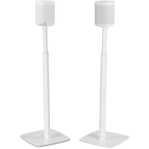 White- Flexson Adjustable Floor Stand (Pair)