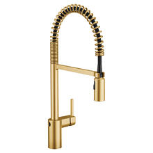 Align Brushed gold one-handle pulldown kitchen faucet