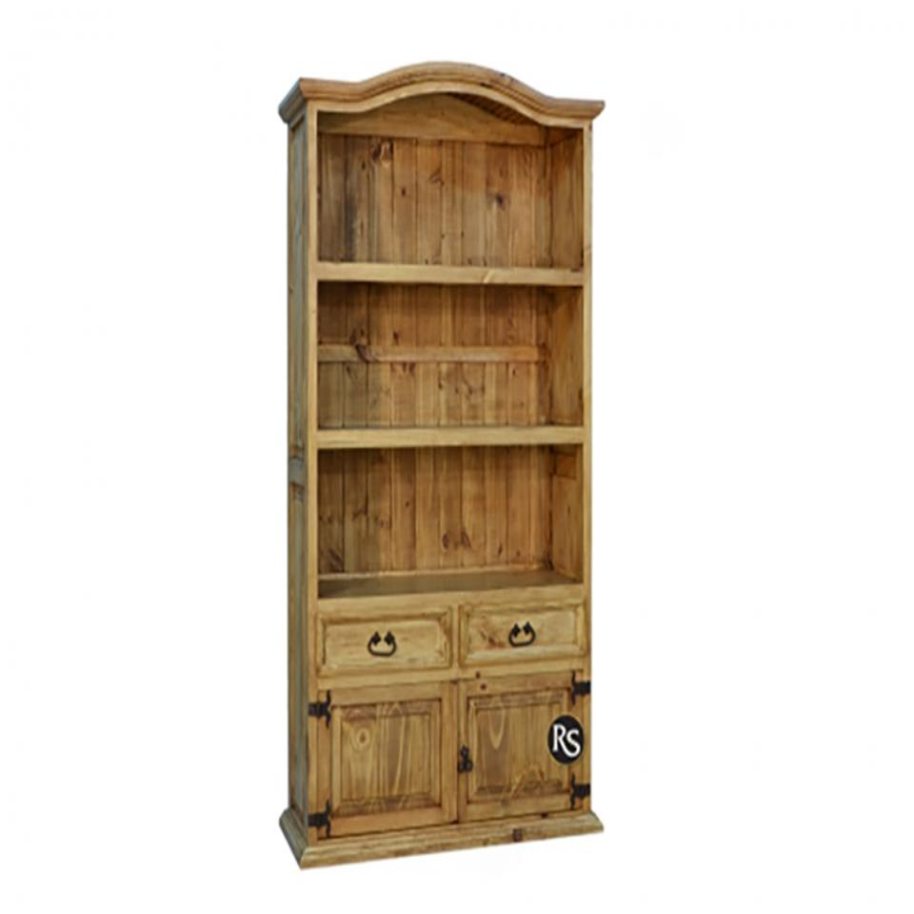 See Details - Rustic 2 Drawer 2 Door Bookcase