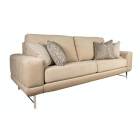 """Contemparary style wide track arm sofa. Shown with 8"""" Plinth base. Also available with 8"""" Tapered round, 8"""" Pyramid, or 8"""" Square tube legs."""