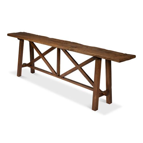 Double X Base Sofa Table
