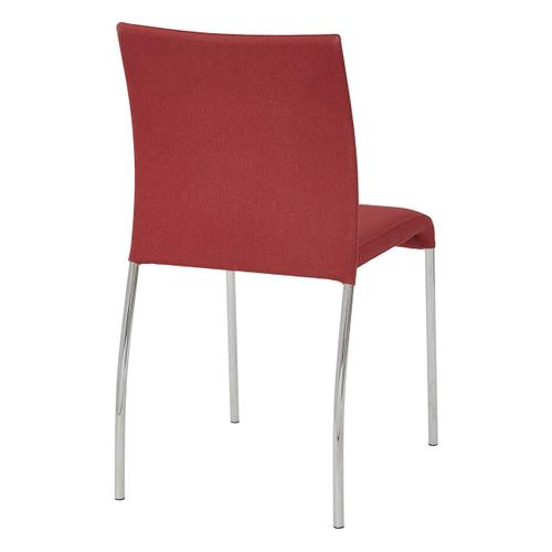 Conway Stacking Chair In Cranapple Fabric, Fully Assembled, 2-pack