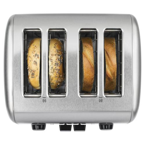4-Slice Toaster with Manual High-Lift Lever - Brushed Stainless Steel
