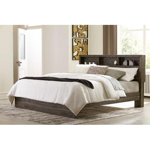 Ashley - King Bookcase Panel Bed With Dresser