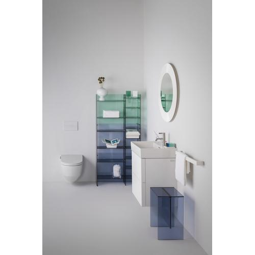 Grey Blue Vanity Unit with two drawers for washbasin 810332 incl. organiser)