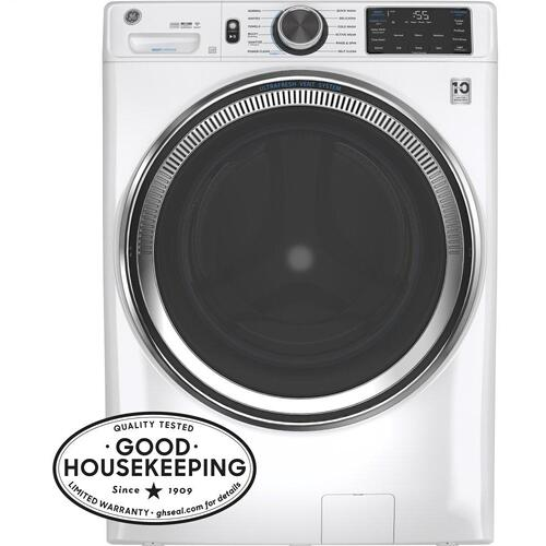 GE® 4.8 cu. ft. Capacity Smart Front Load ENERGY STAR® Steam Washer with SmartDispense™ UltraFresh Vent System with OdorBlock™ and Sanitize   Allergen