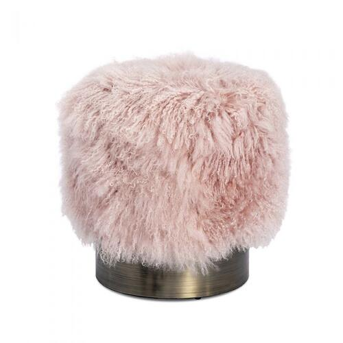 Doutzen Stool - Blush Sheepskin