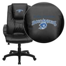 Blinn College Buccaneers Embroidered Black Leather Executive Office Chair