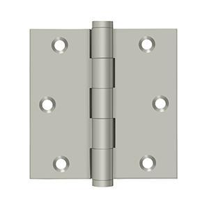 "Deltana - 3-1/2"" x 3-1/2"" Square Hinge - Brushed Nickel"