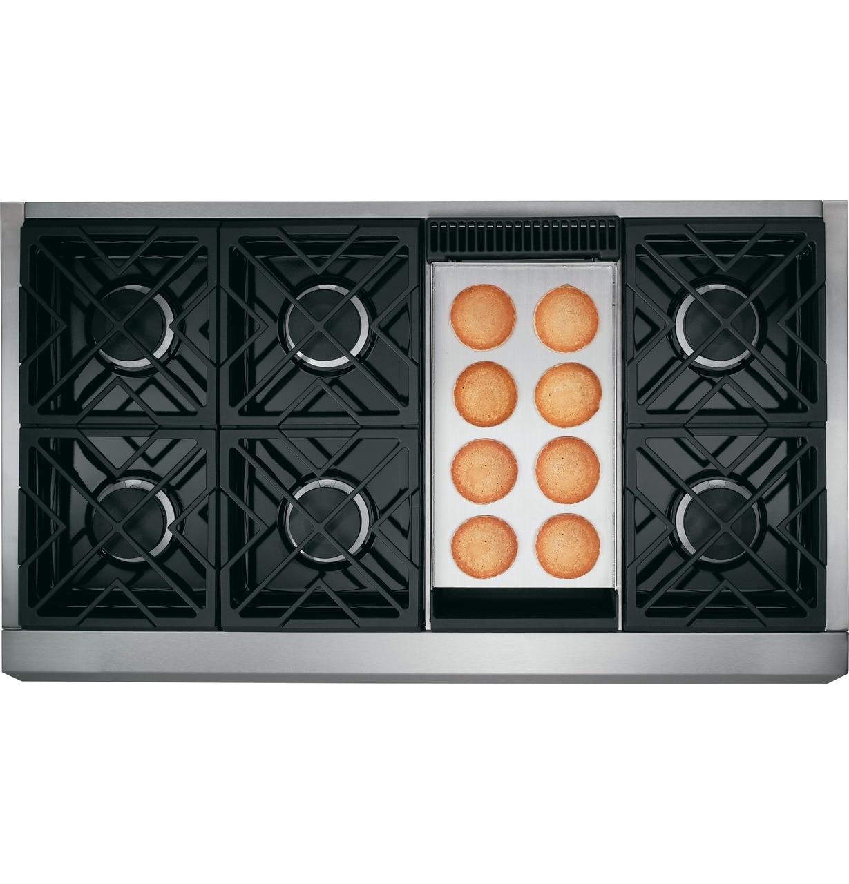"""CafeCafé™ 48"""" Commercial-Style Gas Rangetop With 6 Burners And Griddle (Natural Gas)"""