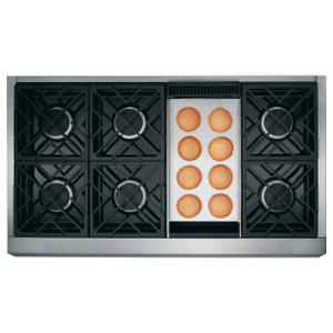 "Cafe Appliances48"" Commercial-Style Gas Rangetop with 6 Burners and Griddle (Natural Gas)"