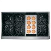 """Caf(eback)™ 48"""" Commercial-Style Gas Rangetop with 6 Burners and Griddle (Natural Gas)"""