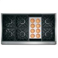 """Café™ 48"""" Commercial-Style Gas Rangetop with 6 Burners and Griddle (Natural Gas)"""