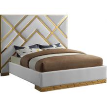 """Vector Faux Leather Bed - 97"""" W x 85.5"""" D x 67"""" H"""