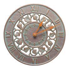 """See Details - Ivy 12"""" Indoor Outdoor Wall Clock - Copper Vedigris"""