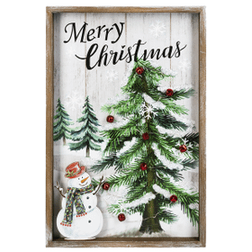 Light Up Merry Christmas Framed Plaque