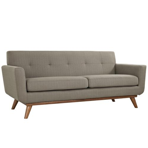 Engage Sofa Loveseat and Armchair Set of 3 in Granite