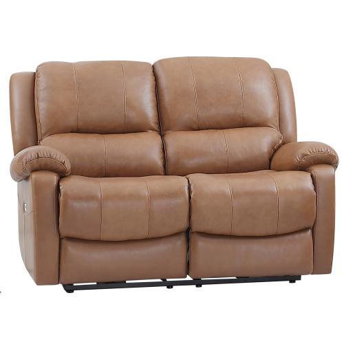 Leather Italia USA - E1716 Xan Pwr Loveseat 177136lv Peanut Brown