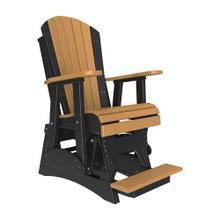 See Details - 2 Adirondack Balcony Glider Chair, Cedar-black