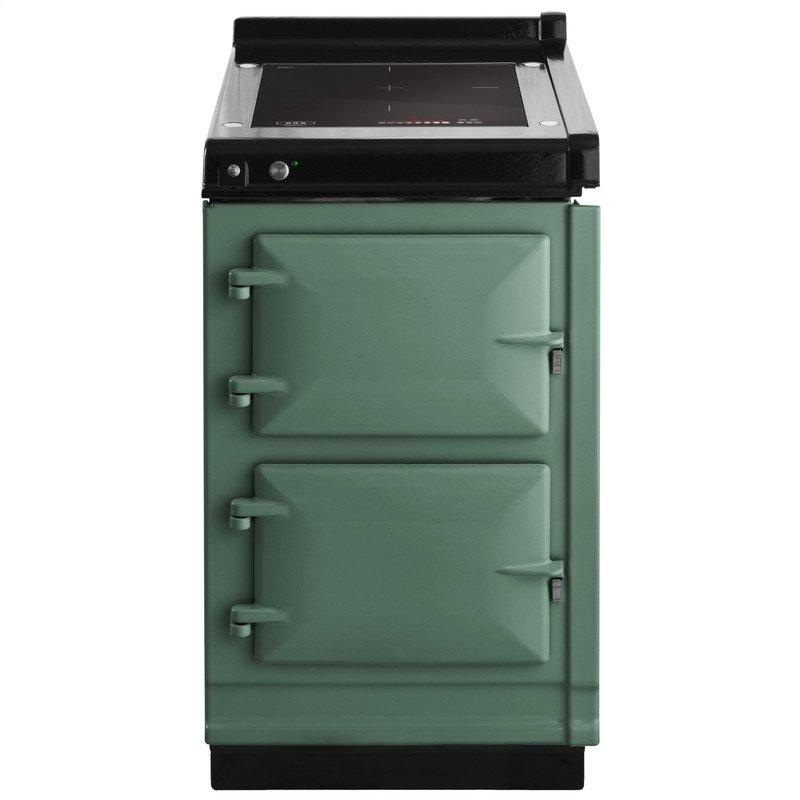 """AGA Hotcupboard 20"""" Induction Pistachio with Stainless Steel trim"""