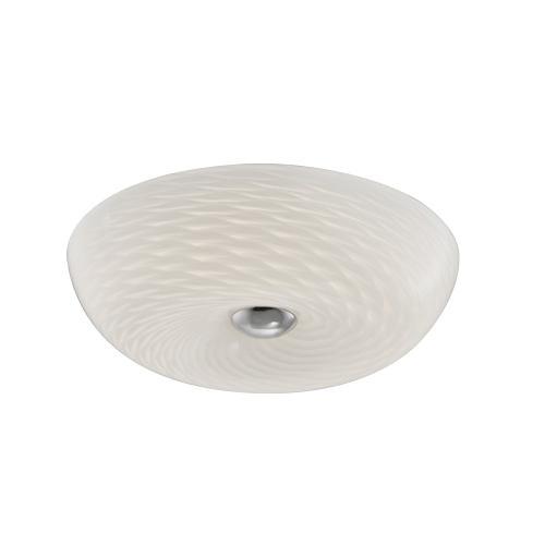 """Flush-mount Fixture, 12"""" Mackerel Glass"""