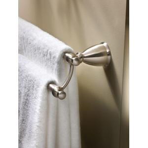 """Caldwell brushed nickel 24"""" double towel bar"""