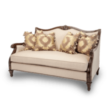 Wood Trim Loveseat - Opt1