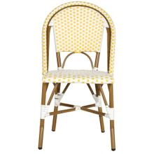 Salcha Indoor - Outdoor Side Chair - Yellow / White / Light Brown