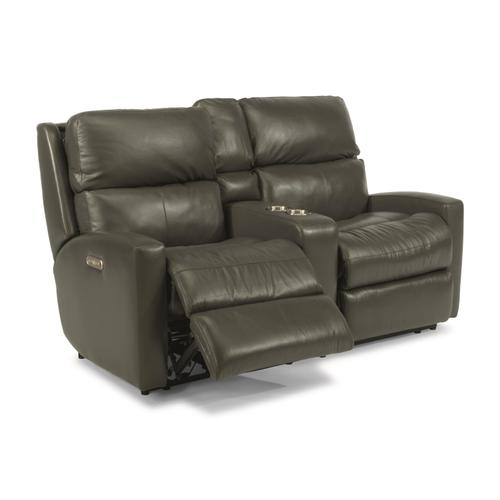 Flexsteel - Catalina Power Reclining Loveseat with Console and Power Headrests